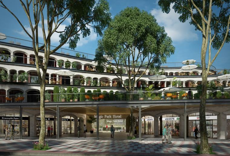 Complejo comercial y hotelero Magic Parc en Platja D'Aro