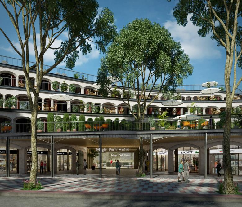 Edifici comercial i Hoteler Magic Parc