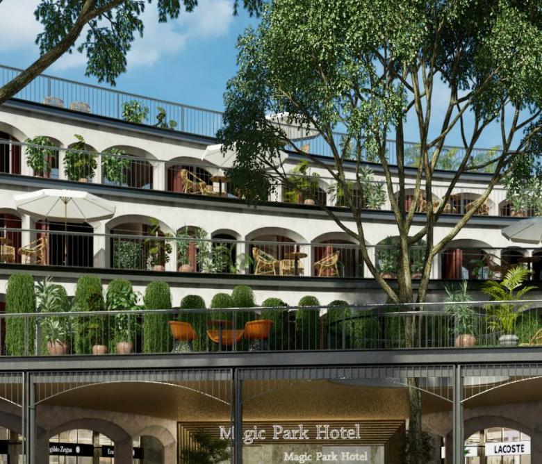 Edifici comercial i Hoteler Magic Parc